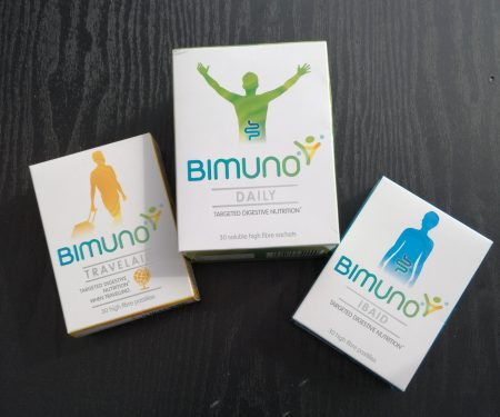 Bimuno digestive health products to aid waist shaping