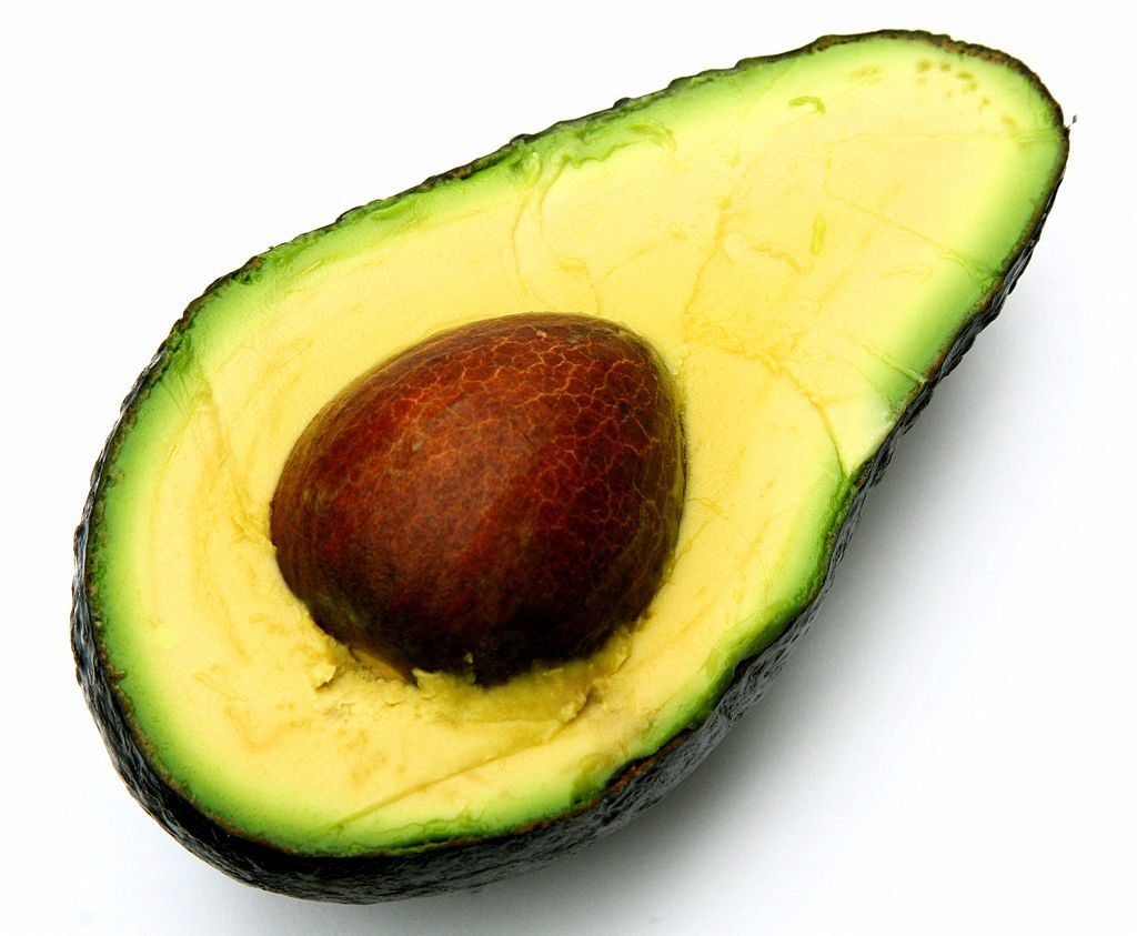 Cut avocado with stone